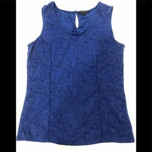 Kenneth Cole royal blue lace tank
